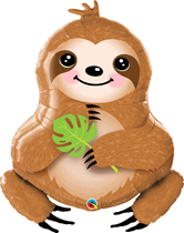 "Sweet Smiling Sloth 39"" Foil Balloon"