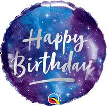 "Happy Birthday Space Galaxy 18"" Foil Balloon"