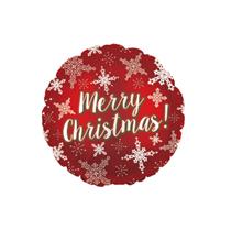 """Merry Christmas Snowflakes 9"""" Mini Foil Balloon"""