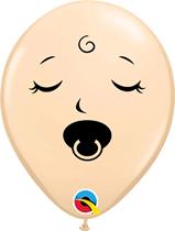 "Blush Sleeping Baby 5"" Latex Balloons 100pk"