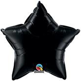 "Onyx Black 20"" Star Foil Balloon"