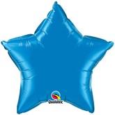"""Sapphire Blue 20"""" Star Foil Balloon Pkgd"""
