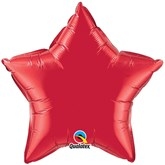 """Ruby Red 20"""" Star Foil Balloon Pkgd"""