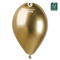 "Gemar Shiny Gold 12"" Latex Balloons 25pk"