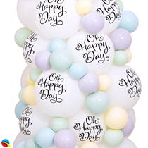 """Oh Happy Day Top Print 11"""" White Latex Balloons 25pk"""