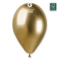 Gemar Shiny Chrome Gold 12 Inch Latex Balloons