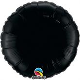 """Onyx Black 18"""" Round Foil Balloon"""