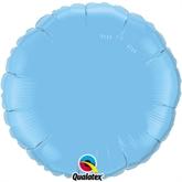 "Pale Blue 18"" Round Foil Balloon"