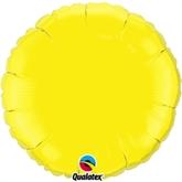 """Yellow 18"""" Round Foil Balloon"""