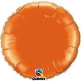 """Orange 18"""" Round Foil Balloon"""