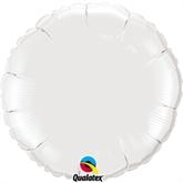 """White 18"""" Round Foil Balloon"""