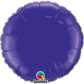 "Quartz Purple 18"" Round Foil Balloon"