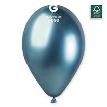 "Gemar Shiny Blue 12"" Latex Balloons 25pk"