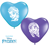 "6"" Heart Shaped Frozen Latex Balloons 100pk"