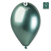 "Gemar Shiny Green 12"" Latex Balloons 25pk"
