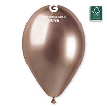 "Gemar Shiny Rose Gold 12"" Latex Balloons 50pk"