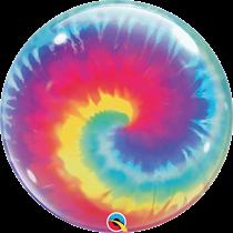 """Qualatex Tie Dye Swirls 22"""" Bubble Balloon"""