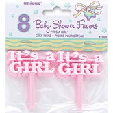 Baby Shower 'It's a Girl' Picks - Pink
