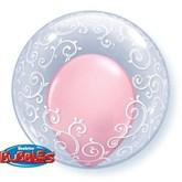 """Scroll Filigree All Around Deco Bubble Balloon 24"""""""