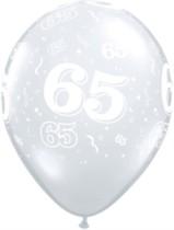 "11"" 65th Birthday Diamond Clear Balloons - 50pk"