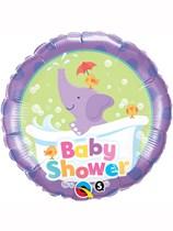 "Purple Baby Shower Elephant 18"" Foil Balloon"