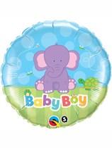 """18"""" Baby Boy Elephant Foil Balloon"""