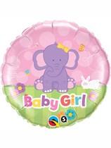 "18"" Baby Girl Elephant Foil Balloon"
