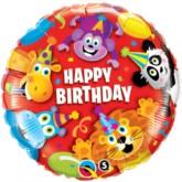"18"" Happy Birthday Party Animals Foil Balloon"