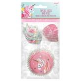 Magical Unicorn Cupcake Cases & Picks 48pce