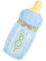 "SuperShape Baby Boy Bottle 33"" Foil Balloon"