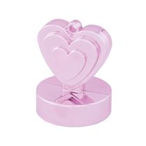 Pearl Pink Heart Balloon Weight 12pk