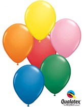 """11"""" Assorted Colour Latex Balloons 100pk"""