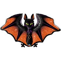 "Halloween Glitzy Bat 50"" Foil Balloon"