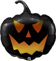 "Halloween Black Pumpkin Jack 35"" Foil Balloon"