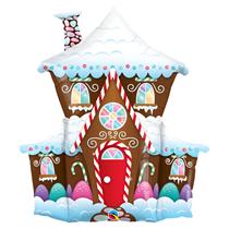 "Christmas Gingerbread House 37"" Foil Balloon"