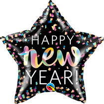 "New Year Iridescent Star 18"" Foil Balloon"
