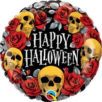 "Halloween Golden Skulls 18"" Foil Balloon"