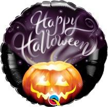 """Halloween Smoke Pumpkin 18"""" Foil Balloon"""