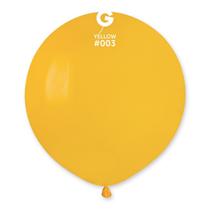 "Gemar Standard Yellow 19"" Latex Balloons 10pk"
