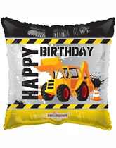 "Happy Birthday Under Construction 18"" Foil Balloon"