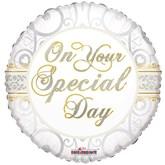 "Wedding Special Day 18"" Foil Balloon"