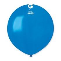 """Gemar Standard Blue 19"""" Latex Balloons 10pk"""
