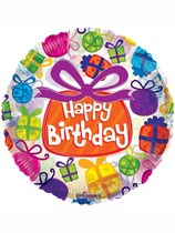 "Happy Birthday Presents 18"" Foil Balloon"