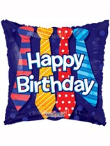 "Happy Birthday Ties 18"" Foil Balloon"