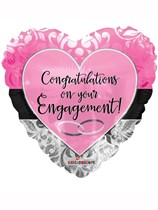"""Congratulations on Your Engagement 18"""" Foil Balloon"""