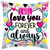 """Forever And Always 18"""" Square Foil Balloon"""