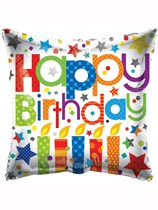 """Happy Birthday Candles 18"""" Foil Balloon"""
