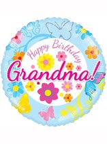 "Happy Birthday Grandma 18"" Foil Balloon"