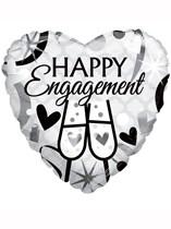 "Happy Engagement 18"" Heart Foil Balloon"