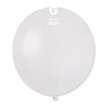 "Gemar Metallic White 19"" Latex Balloons 10pk"